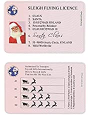 Mabor Santa Claus Flight License, Christmas Ornament Santa Claus Flight License Add Sleigh Riding Licence Professional Realistic Driver's License for Santa Claus Home Christmas Decoration