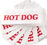 Eco-Friendly Classic Design Hot Dog Wrapper Sleeves 500 Pack by Avant Grub. Turn a Party into a Carnival with Paper HotDog Bags that Keep Your Fundraiser or Concession Stand Guests Mess-Free!