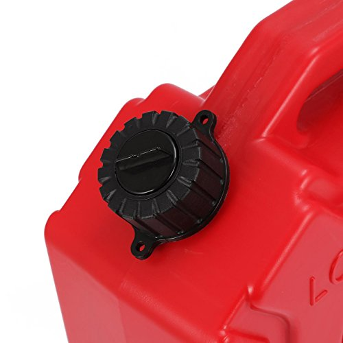 YOUNGFLY 10L Fuel Tank Cans Spare 2.5 Gallon Portable Fuel Oil Petrol Diesel Storage Gas Tank Emergency Backup for SUV ATV UTV Car Air Diesel (red,10L) by YOUNGFLY (Image #3)