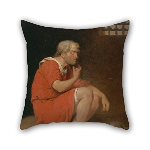 Loveloveu Throw Pillow Covers Of Oil Painting John Downman - Robert, Duke Of Normandy, In Prison,for Boy Friend,living Room,bedding,chair,home,club 18 X 18 Inches / 45 By 45 Cm(twin (Princess In Prison Costume)