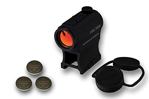 HOLOSUN HS403B Micro Red Dot Sight (2 MOA) w/ 3 Extra Batteries by Holosun