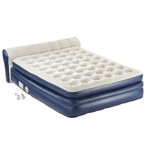 COLEMAN Aerobed Queen Inflatable Elevated Airbed Mattress w/ Headboard and Pump