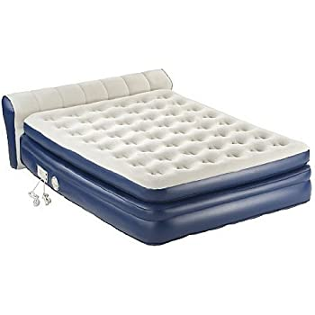coleman aerobed queen inflatable elevated airbed mattress w headboard and pump