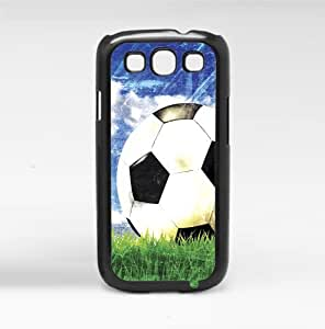 Soccer Ball in Grass and Blue Sky Hard Snap on Phone Case (Galaxy s3 III)