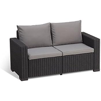 Amazon Com Keter Corfu Love Seat All Weather Outdoor