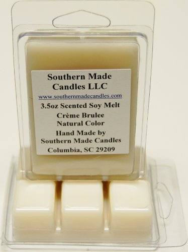 3.5 oz Scented Soy Wax Candle Melts Tarts - Creme Brulee (Brule Creme Soy Candle)