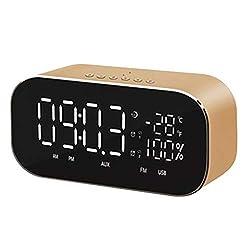 alarm clock radio Wireless Bluetooth Speaker Support Temperature LCD Displa