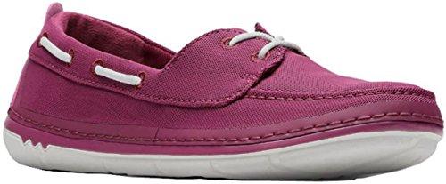 CLARKS Step Maro Sand Womens Boat Shoe, Deep Fuchsia, Size 6
