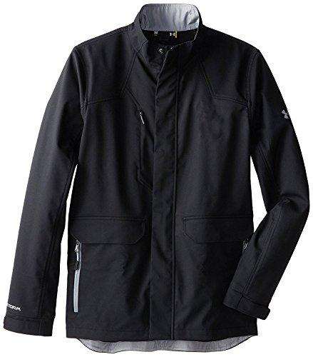 Storm Shell Jacket - Under Armour Men's Elevate Storm Softshell Jacket (Medium, Black)