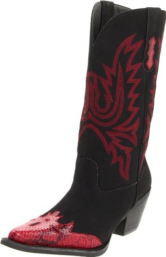NOMAD Women's Matador Boot,Black/Red,6 M US