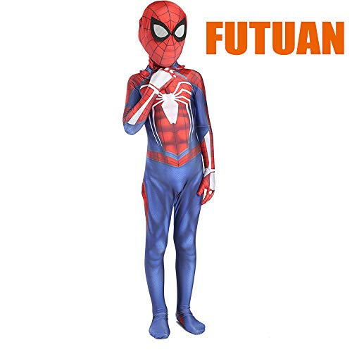 Spider Superhero Kids Ps4 Game 2018 Kids Halloween Cosplay Costumes Kids 3D Style (XXL(140-150cm)) Red ()