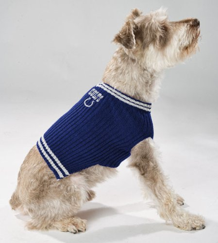 ca75c518 Pets First Indianapolis Colts V-Neck Dog Sweater, X-Small