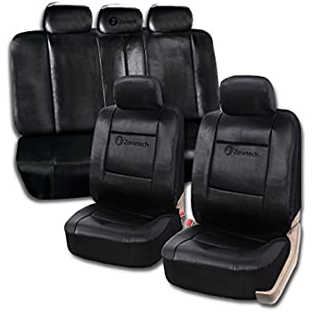 Amazon.com: Zone Tech Universal Leather Car Seat Covers – 11-Piece