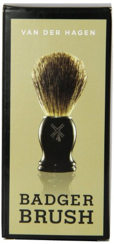 Van Der Hagen Men's Luxury, Badger Brush, 3-Ounce