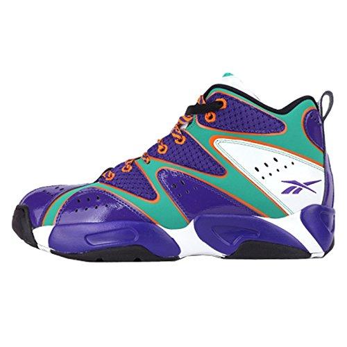 Reebok Kamikaze I MID MSH Team Sneaker Basketballschuhe lila/weiß/türkis