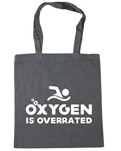 Graphite Beach Grey is Bag 10 42cm Gym Oxygen Tote litres HippoWarehouse Shopping overrated x38cm C7g7wY