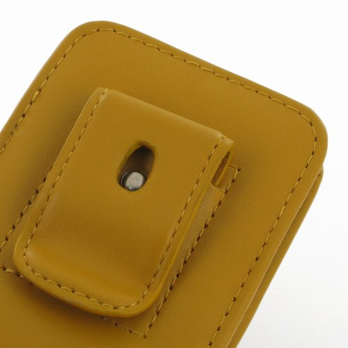 Apple iPhone 5s Leather Case / Cover (Handmade Genuine Leather) - Vertical Pouch Type (WITH Belt Clip) (Yellow) by Pdair