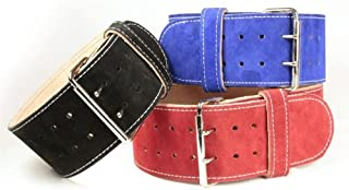 "product image for IRON COMPANY 13mm Thick 4"" Suede Leather Powerlifting Belt"