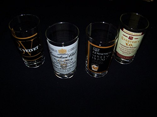 s V.O. Club & Wiser's Vintage Canadian Rye Whiskey Glass Set (Seagram Vo Canadian Whiskey)