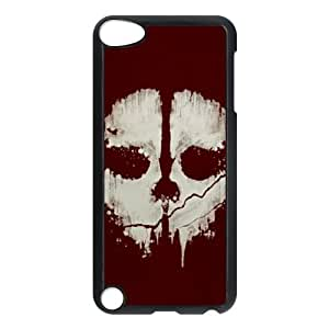 iPod Touch 5 Case Black Skull Cover BWW Unique Phone Cases
