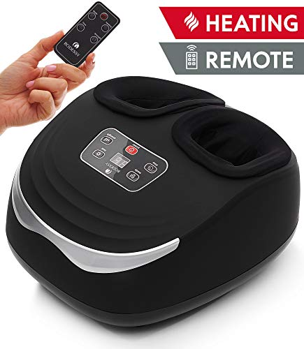 Foot Massager Shiatsu Deep Kneading Massage Machine Foot Massager Plantar Fasciitis Feet Massager Heat Rolling Air Compression
