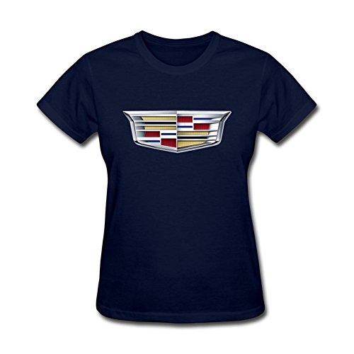 ZHENGXING Women's CADILLAC Logo Short Sleeve T-Shirt S ColorName