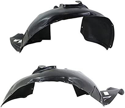 Koolzap For 07-18 Wrangler Front Splash Shield Inner Fender Liner Panel Left Right SET PAIR