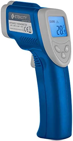 Etekcity Infrared Thermometer 774 Not for Human Temperature Gun Non-Contact Digital Laser Thermometer-58 716 -50 380 , Standard Size, Blue Gray