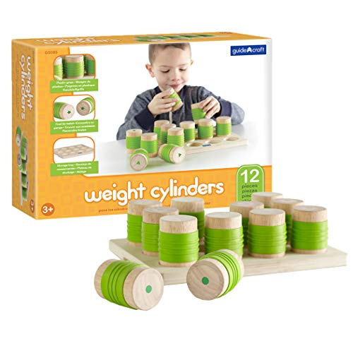 (Guidecraft Weight Cylinders Toy - Kids Early Learning and Development Toy)
