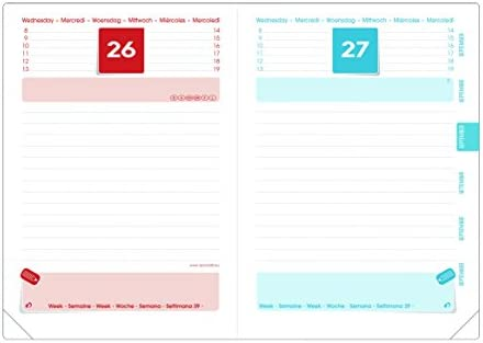Quo Vadis 128556Q - Agenda escolar 2018-2019, día página, diseño Love boca, 12 x 17 cm