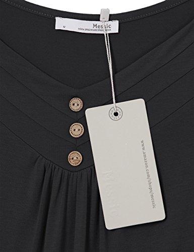 Messic - Camiseta sin mangas - para mujer negro