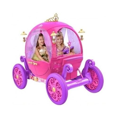 24 Volt Rechargeable Disney Princess Pink Carriage,Can Fit 2 - Princess Ride Disney