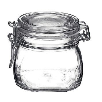 Bormioli Rocco Fido Round Clear Jar
