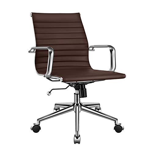 Executive Mid Back Leather Swivel - 4