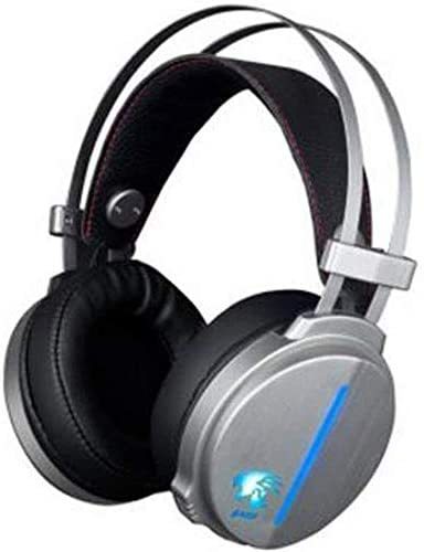 HNSYDS ブラックシルバーゲーミングヘッドセットヘッドセット調節可能なUSBケーブルヘッドセットデュアルオーディオの音質をクリア ゲーミングヘッドセット