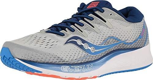 Saucony Men's Ride ISO 2 Running Shoe, Grey/Blue, 10.5 M US ()