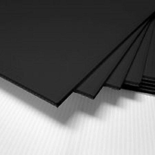 Corrugated Plastic 4mm Boards - 18''x12'' (10 Sheets) … (Black)
