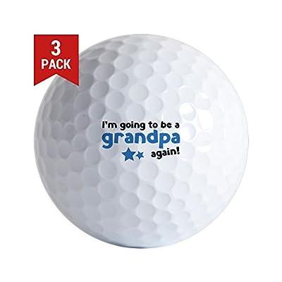 CafePress - I'm Going to Be A Grandpa Again - Golf Balls (3-Pack), Unique Printed Golf Balls