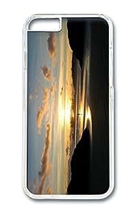 iPhone 6 Plus Case, Protective Slim Hard PC Clear Case Cover for Apple iPhone 6 Plus(5.5 inch)- Beach Scene Sunrise 4