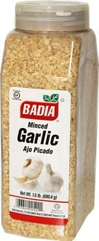 Minced garlic, dry by Badia 1.5 lb Dispenser Container