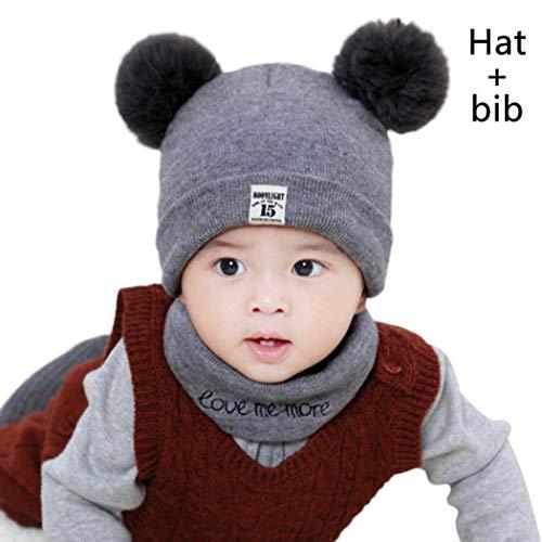 Pagacat Baby Winter Warm Pom Pom Decoration Knitted Beanie Cap Hats & Caps