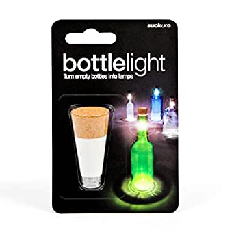 SUCK UK SK LIGHTBOTTLE1 Luz para botellas recargable Blanco talla única