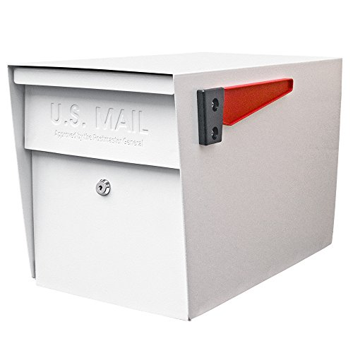 Mail Boss 7107 Curbside Locking Security Mailbox, White