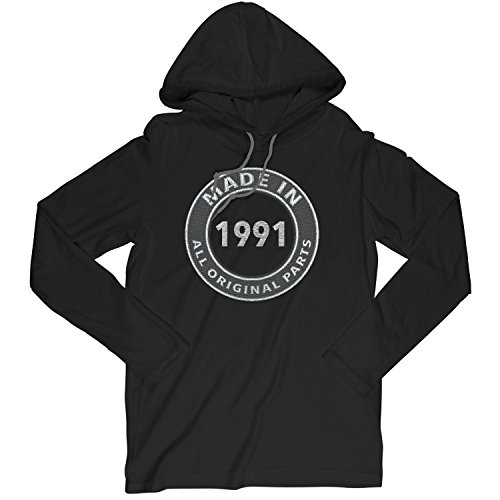 28th Birthday Gift Made in 1991 All Original Parts Carbon Fiber XX-Large T-Shirt Hoodie