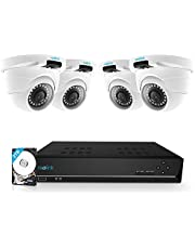 Reolink 8CH 5MP PoE Home Security Camera System, 4 Wired 5MP Outdoor PoE IP Cameras, 5MP 8 Channel NVR Security System w/ 2TB HDD for 7/24 Recording (4 pcs 5MP Dome Cameras)