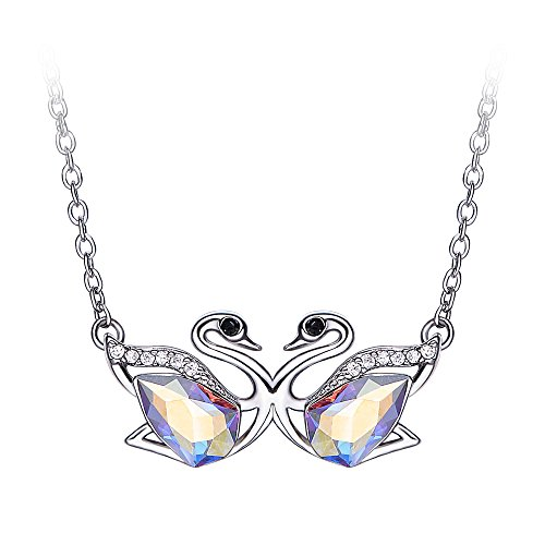 Cde Necklace For Women Swarovski Crystal Pendant Necklaces Silver Clavicular Chain Jewelry Gift For Woman