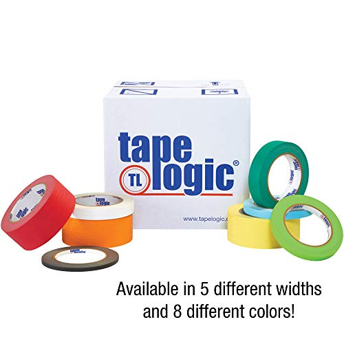 Colored White Masking Tape, 2 Inch x 60 Yds Per Roll (24 Rolls), Thick 4.9 Mil Multi Use for Identification, Painting, Labeling, Packing, Arts and Crafts, Home and Office by Tape Logic (Image #2)