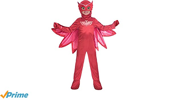 Amscan Childrens Size Deluxe PJ Masks Disfraz de Owlette Medium (5-6 years): Amazon.es: Juguetes y juegos