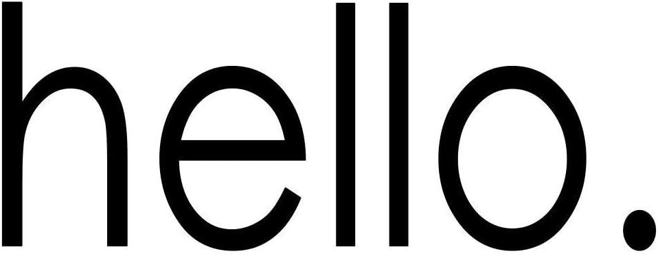 Hello Vinyl Front Door Decal - Hello Vinyl Decal for The Home or Business, 10