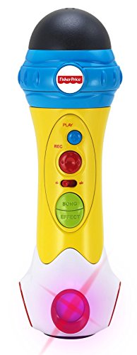 Fisher-Price Music - Microphone/Karaoke - Music Rappin' Recording Microphone - Sing, Record & Playback -  Designed for Kids
